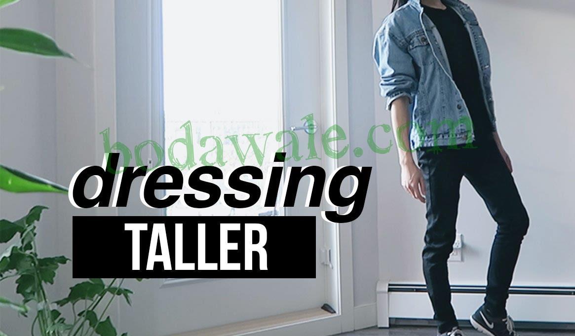 men dress to look taller