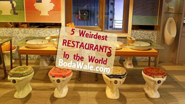 weird restaurant, modern toilet