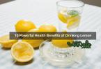 health benefits of drinking lemon