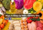 keeping up with healthy diet
