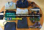 important items in men's closet