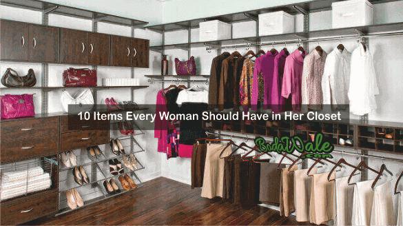 items in walk in closet