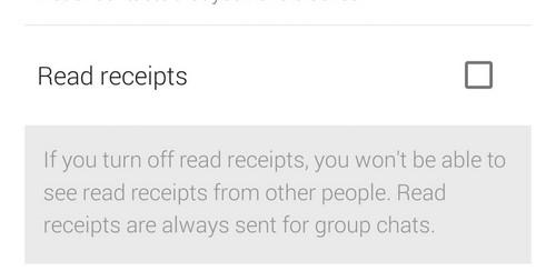Whatsapp privacy read receipt
