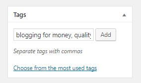 tags role in categorizing content